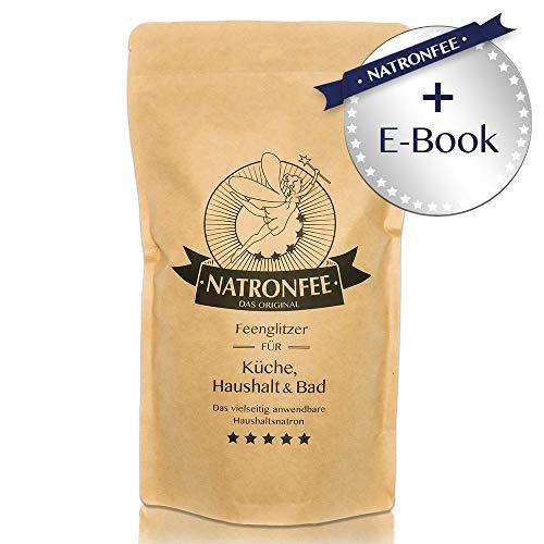 Natron Backpulver bzw. Baking Soda - Extra feines Natron-Pulver zum Backen und Kochen - inklusive E-Book mit Rezepten - Natriumhydrogencarbonat E500 (ii), 1000g. In Deutschland hergestellt.