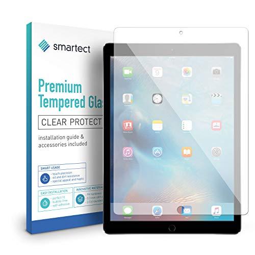 smartect Panzerglas für Apple iPad Pro 12.9 2017 - Bildschirmschutz mit 9H Härte - Blasenfreie Schutzfolie - Anti Fingerprint Panzerglasfolie