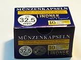 100 Stück Original LINDNER Münzkapseln 32,5 mm, für 10 € -, 20 €, 25 € - und 10 DM - Münzen