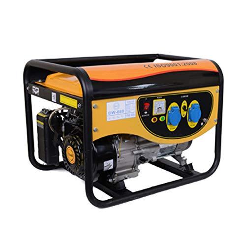 HIOD Stromerzeuger Notstromaggregat Inverter-Generator - 3000w, 3kva, 220v, Simplex, Ruhig Mini Haushalt Notfall Generator, Benzin Erdgas Flüssiggas Liefern
