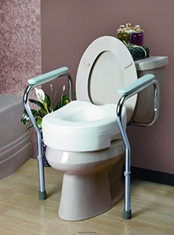 Adjustable Toilet Safety Frame [IB TOILET SEAT FRAME RTL BX] by Invacare