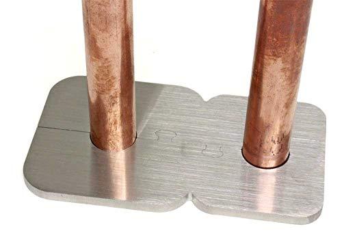EXKLUSIVE EDELSTAHL Heizkörper Rosette ACHT Doppelrosette für HEIZUNG (Rohrdurchmesser: 15mm)