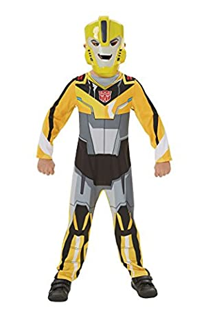 Classic Bumble Bee Transformers Robots in Disguise - Kids Costume (No Muscles) 3 - 4 years