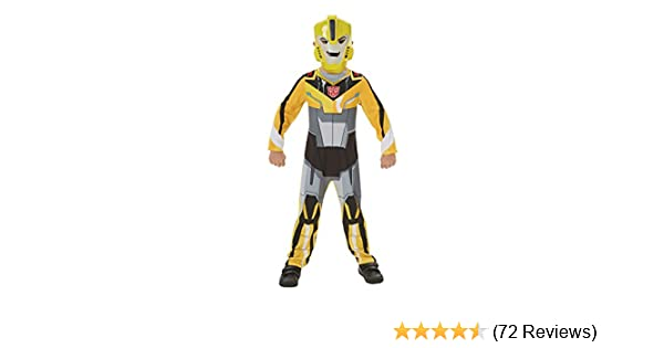 Boys Transformers Bumble Bee Costume Classic Superhero Fancy Dress Outfit