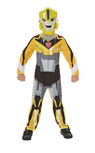 Rubie's Official Transformers Bumble Bee Boys Fancy Dress Superhero Kids Childs Movie Costume