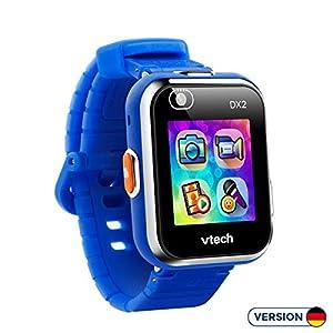 VTech Kidizoom DX2 - Electrónica para niños (Kids smartwatch, Blue, Splash proof, Buttons, 5 yr(s), Boy/Girl) version aleman