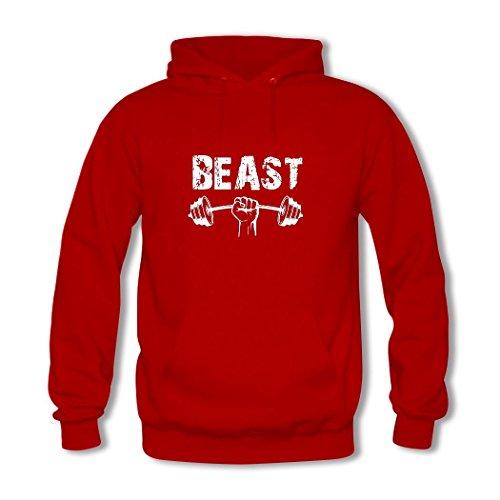 HGLee Printed Personalized Custom Weightlifting Classic Women Hoodie Hooded Sweatshirt Red--1