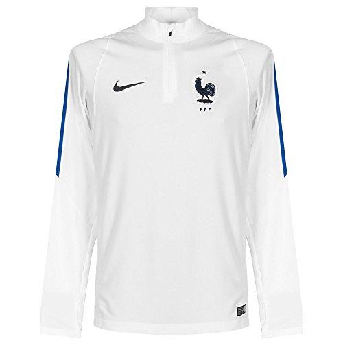 Nike FFF Drill Top - Camiseta de fútbol para Hombre, Color Blanco/Azul / Negro, Talla L