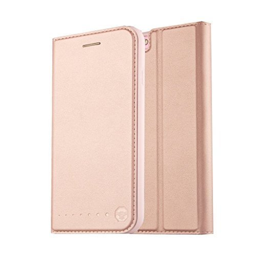 Nouske Funda Tipo Cartera iPhone 6 Plus y 6S Plus de 5.5 Pulgadas de Apple,Oro...