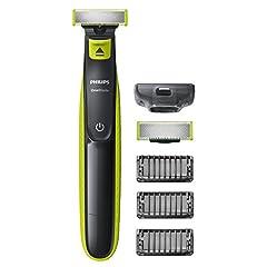 Idea Regalo - Philips QP2520/30 OneBlade per Radere, Regolare e Rifinire, 3 Pettini Regolabarba, 1 Lama di Ricambio