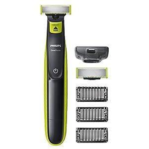 Philips QP2520/30 OneBlade Rade, Regola e rifinisce la barba di qualsiasi lunghezza, 3 Pettini Regolabarba + 1 Lama di Ricambio 5 spesavip