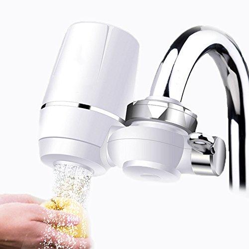 Wasserhahn Wasserfilter, EgoEra® 8 Schicht Leitungswasser Filter / Wasseraufbereiter Trinkwasser / Wasserfilter Wasserreiniger für die Küche mit Keramischen Filterpatrone Test