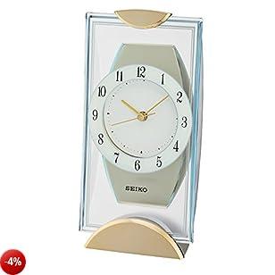 Seiko Unisex Stand orologi tavolo orologio analogico vetro QXG146G