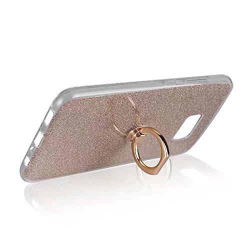 Soft Flexible TPU Back Cover Case Shockproof Schutzhülle mit Bling Glitter Sparkles und Kickstand für Asus ZenFone 4 VV520KL ( Color : Blue ) Gold