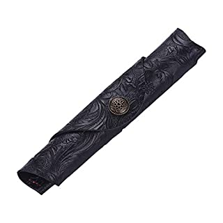 Aibecy Antique Leather Pen Case Fountain Handmade Sleeve Bag Pouch Protector for Single Pen Stylus Ballpoint 7 * 1.2''