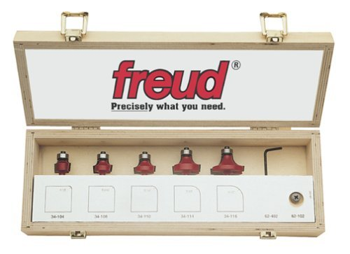 Freud 89-102 5-Piece Round Over and Beading Router Bit Set by Freud -