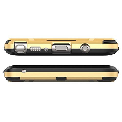 Galaxy J7 2017(European Version) H¨¹lle,EVERGREENBUYING Abnehmbare Hybrid Schein SM-J730F Tasche Ultra-d¨¹nne Schutzh¨¹lle Case Cover mit St?nder Etui f¨¹r Samsung GALAXY J7 (2017) Rot Azurblau