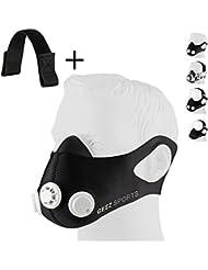 Geez Revolt Training Masque pour Hauteur Training - Augmentation de la physique Fitness Masque respiratoire Masque Masque, Silver on black