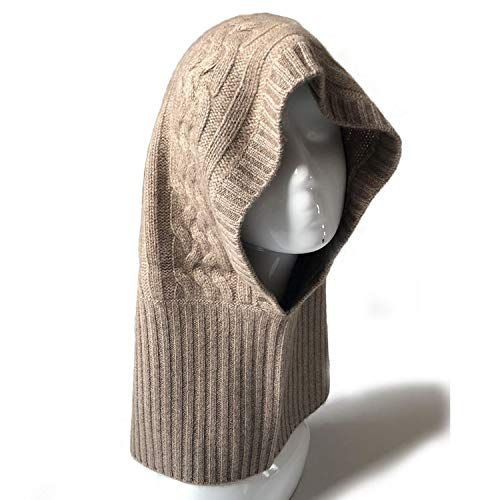 YANGLAN Kaschmir Gestrickte Ohrmütze, Herbst Und Winter Verdicken Rollkragen Herren Warme Mütze, Mode Hand Stricken Mütze (34 * 47cm) -