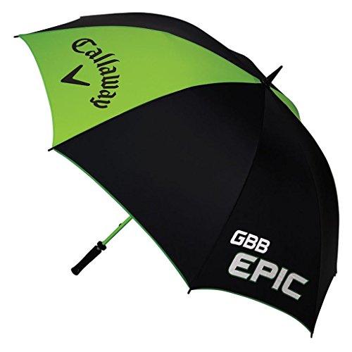 Callaway 2017 GBB Epic 64' Single Canopy Lightweight Mens Golf Umbrella Black/Green