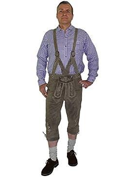 Kniebundhose im Trachtenstil mit geflochtenem Träger