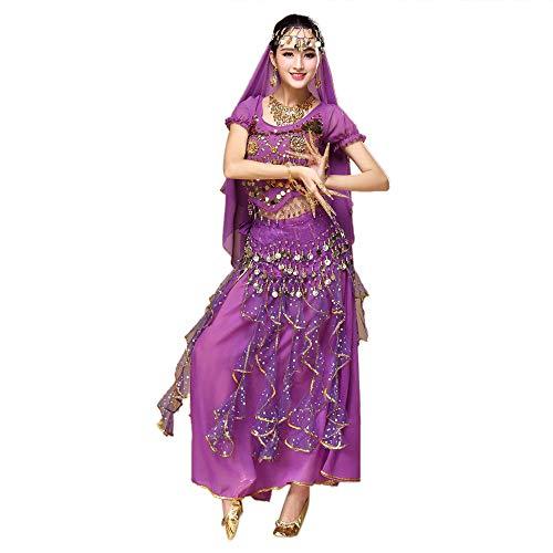 Indian Dance Bauchtanz Sling Rotating Kleid Kostüme Set Frauen Bauchtanz Outfit Tanzkleidung Top + Rock Sets Bauchtanz Ägypten Tanz ()