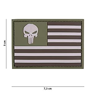 """Patch 3D PVC Punisher """"USA"""" Multicam / Cosplay / Airsoft / Camouflage"""