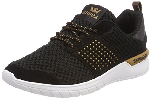 Supra Scissor, Sneakers Basses Femme Noir (Black/copper-white)
