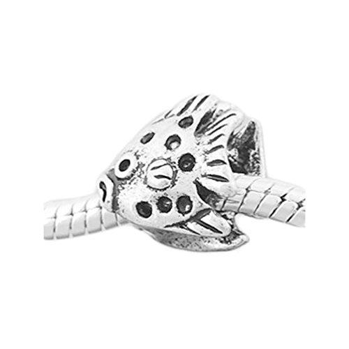 Andante-Stones Silber Bead 'Fisch' Element Kugel für European Beads + Organzasäckchen