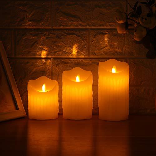 Mobestech 3pcs led candela senza fiamma piangere matrimonio creativo romantico candele tealight elettroniche forniture bianche