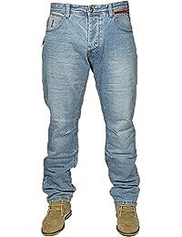 ETO MENS LATEST STRAIGHT LEG STYLISH JEANS EM549 IN BLUE STONE WASH RRP £44.99