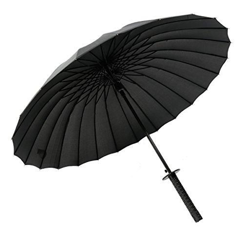 Paraguas katana Aumentar 16 Hueso impermeable reforzado