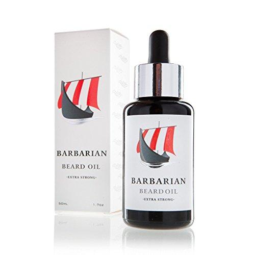 Mr. Burton`s Beard Oil - Barbarian Bartöl - Wikinger Bartöl 50ml für die perfekte Bartpflege - vegan und natürlich mit Arganöl - Pipette