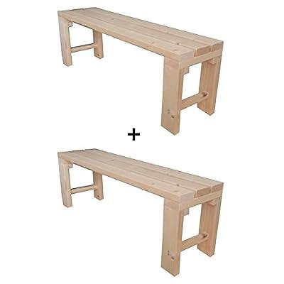 2x Gartenbank Sitzbank Holzbank für Innen und Außen geeignet 200x38.5x50 cm. Nach Maß verfügbar!