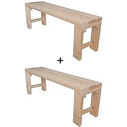 Banco de madera para jardín 150x38.5x50H DISPONIBLE TANBIEN A MEDIDA