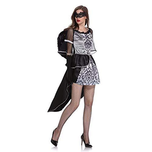 Spuk Hunde Kostüm - Beonzale Halloween Kostüm Frauen Halloween Party Tüll Spitze Schwarz Unregelmäßiges Kleid Cosplay Engelskleid Steampunk Gothic Kostüm