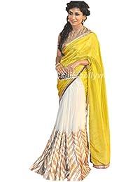 Tiana Creation Georgette Saree (Chitrangada_Singh_Yellow)