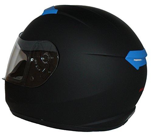 Protectwear Motorradhelm V121-BL schwarz-blau matt - M - 7