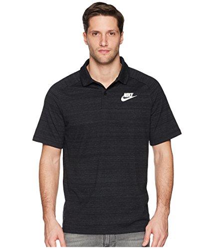 Nike Herren Sportswear Advance 15 Poloshirt, Black/Heather/White, L