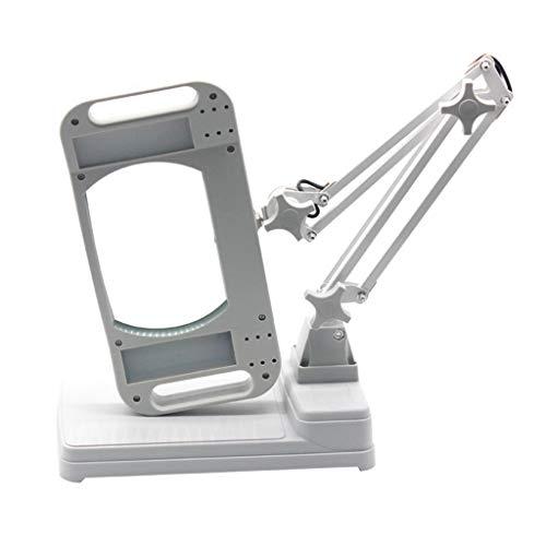 Fangfang GAO magnifier Desktop-Vergrößerungsglas-Metallplastiklesungsschweißen-Handy-Reparatur-Leiterplatte-Stich-LED-Licht rechteckig -