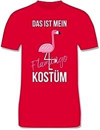 Karneval & Fasching - Das ist Mein Flamingo Kostüm - Herren T-Shirt Rundhals