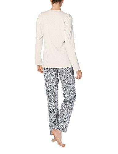 Calida Damen Zweiteiliger Schlafanzug Sharon Weiß (Star White 910)