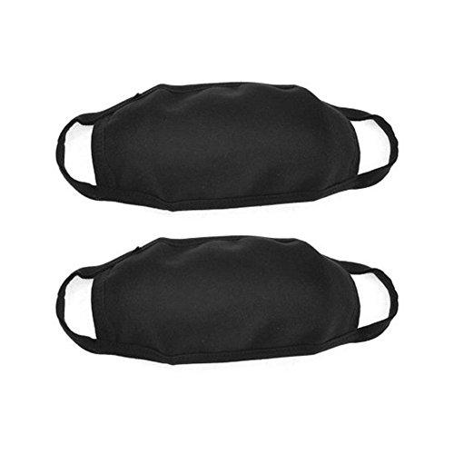 Da.Wa Outdoor Gesichtsmaske Anti-Beschlag Antibakterielle Mundschutzmasken fur Herren Damen(Schwarz,set of 1)