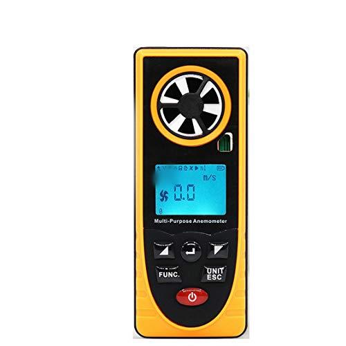 HOUYAZHAN Acht-in-einem-Multifunktions-Anemometer Temperatur und Luftfeuchtigkeit Windkälte Taupunktbeleuchtung Höhe Luftdruckmessgerät (Farbe