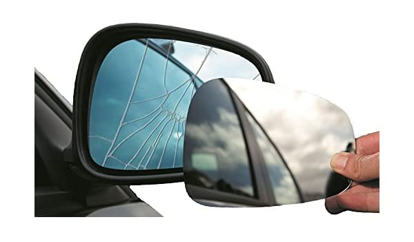 Left Passenger side wing mirror glass for Toyota Aygo 2014-On wide angle heated
