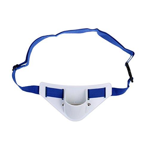 Sharplace 1x Titular de Caña de Pescar Cinturón Ajustable Costa Afuera Jigging Pesca de Mar