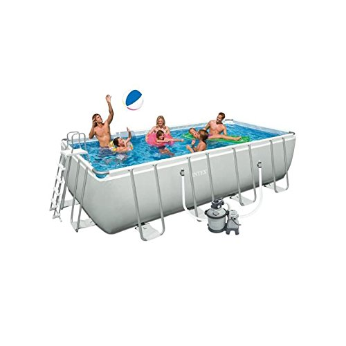 INTEX 28348FR kit Piscine Tubulaire13000, Blanc, 4.57 x 2.74 x 1.22 m