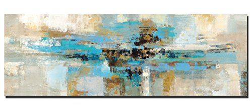 Fajerminart Cuadro En Lienzo - Impresiones De La Lona Arte De La Pared - Decoracion Turquesa Arte Abstracto De La Pared De La Lona De La Marco Turquesa Imprime En La Lona Para (Sin Marco)(70x210cm)