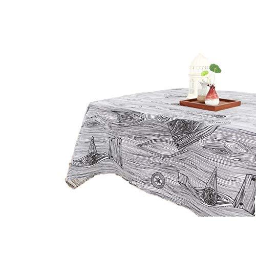 (ChuangYing Vintage Ring Leinen Tischdecke Baumrinde Western Tuch im Japanischen Stil)