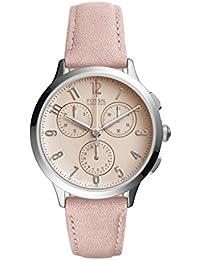 Fossil Damen-Armbanduhr Abilene Analog Quarz Leder CH3088
